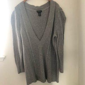 Grey Lane Bryant knit sweater size 18/20